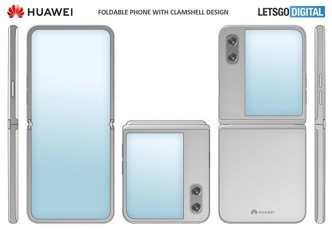 Huawei folding phone render
