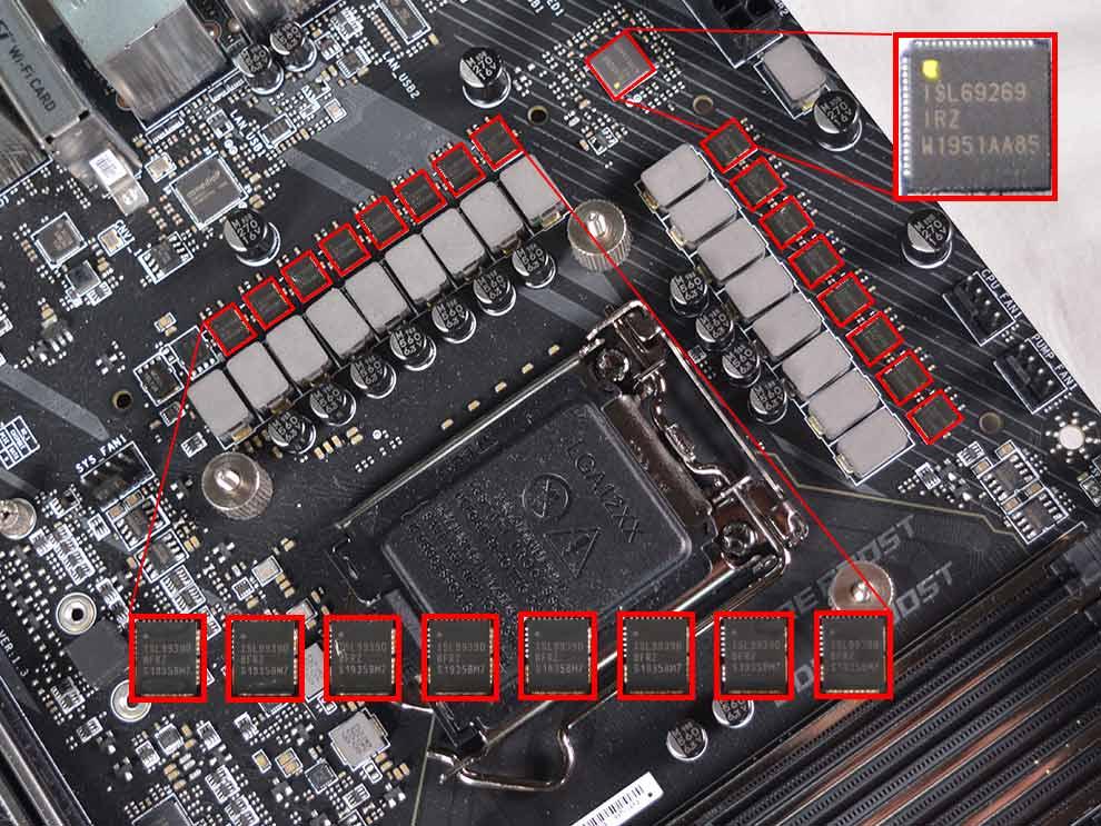 MSI MEG Z490 Ace Intel Comet Lake Motherboard VRM