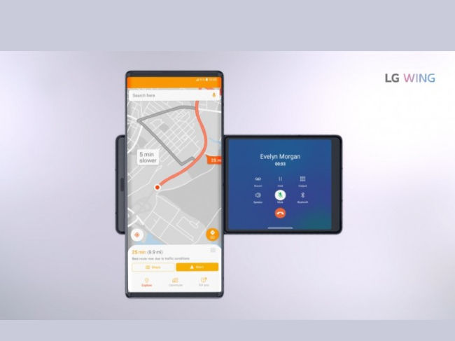 LG Wing Dual Display