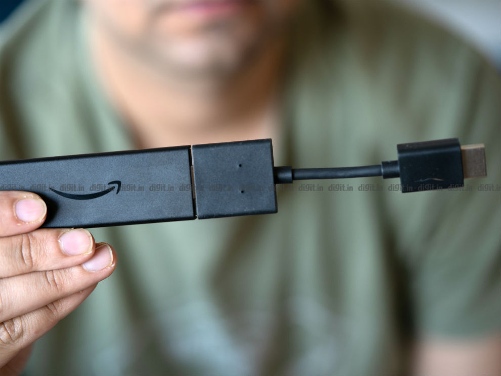 The Fire TV Stick comes with an HDMI extender to connect to the TV easily.