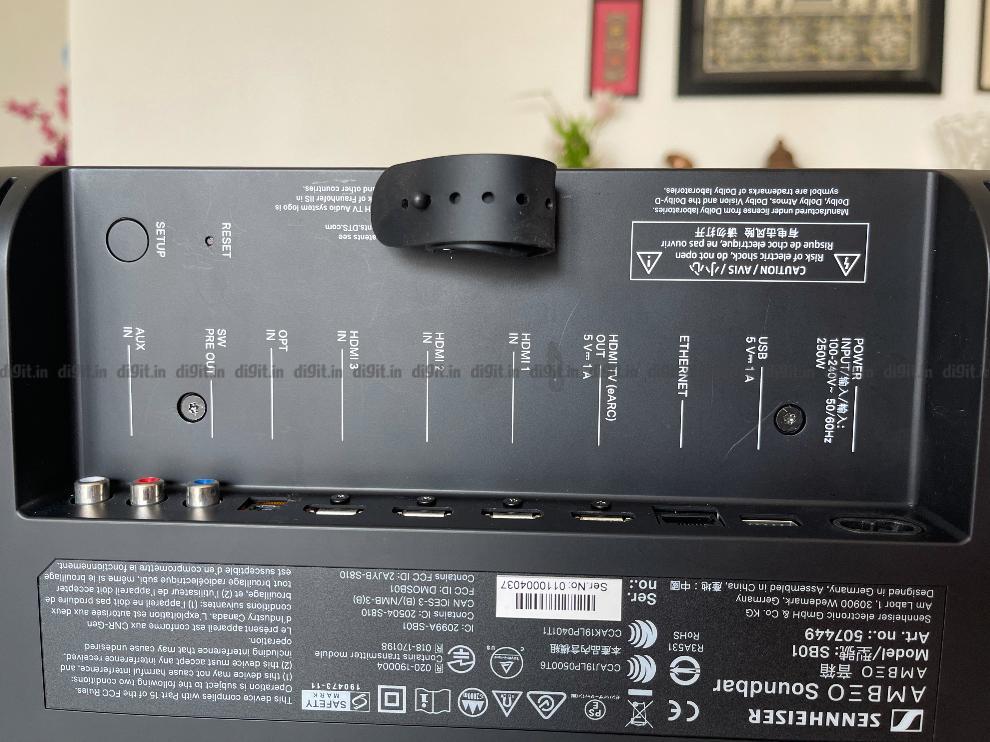 The Sennheiser Ambeo has 3 HDMI pass through ports.