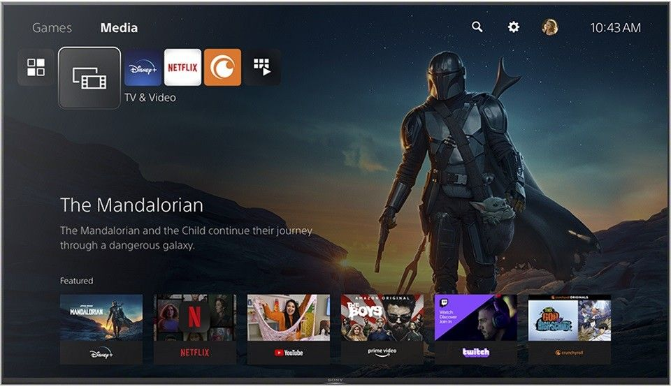 Entertainment Apps on the Sony PS5
