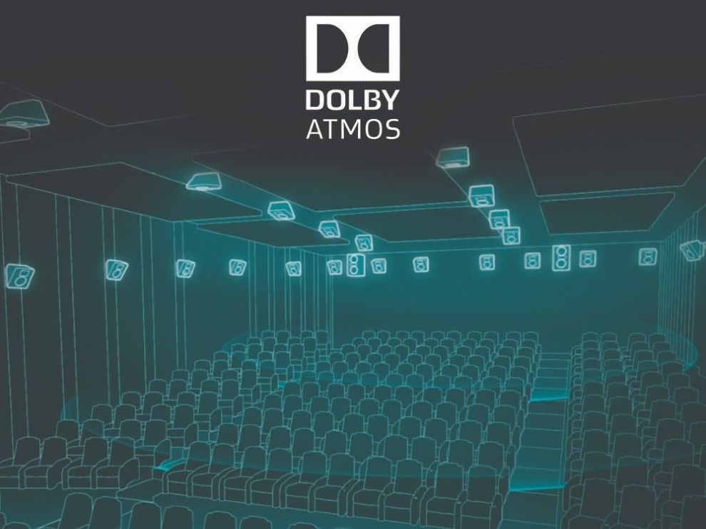 Dolby Atmos in a theatre.