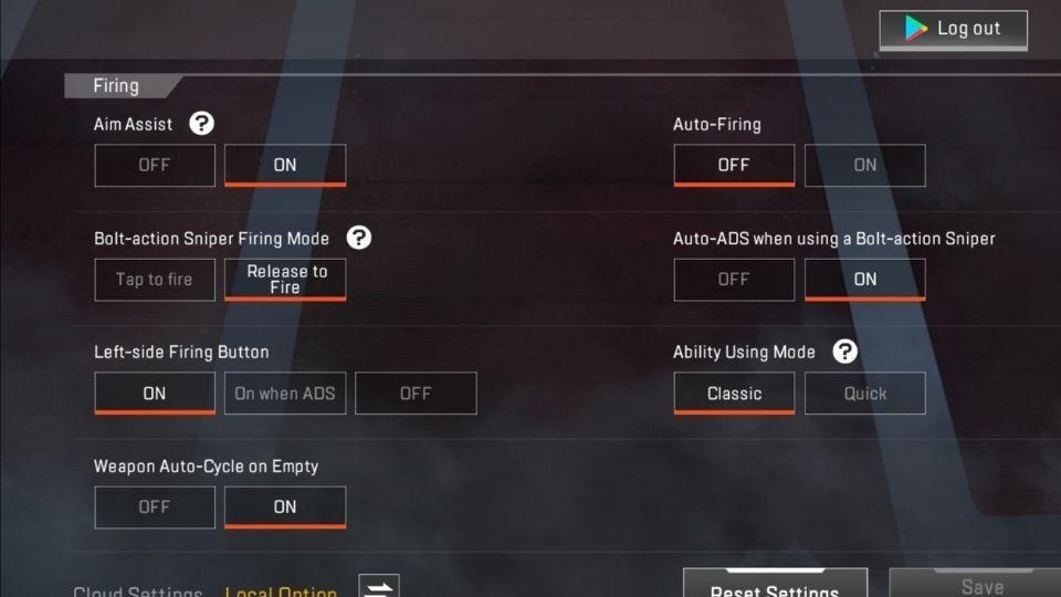 Apex Legends Mobile aim-assist
