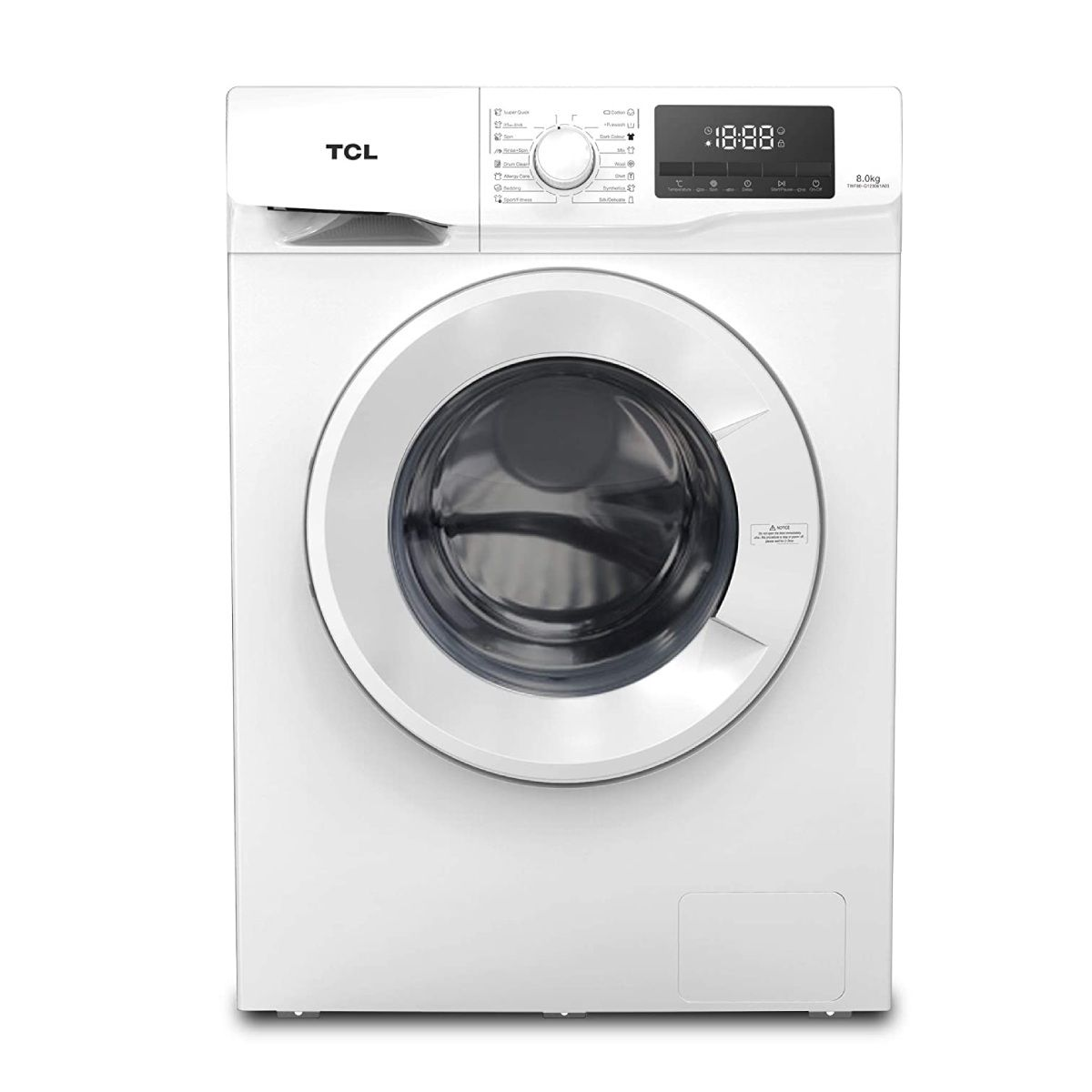 TCL 8 Kg Fully-Automatic Front Loading Washing Machine (TWF80-G123061A03)
