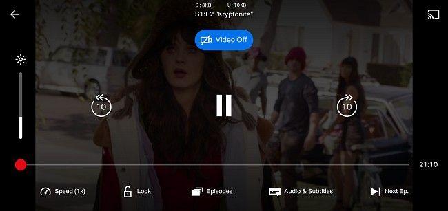 Netflix's audio only mode