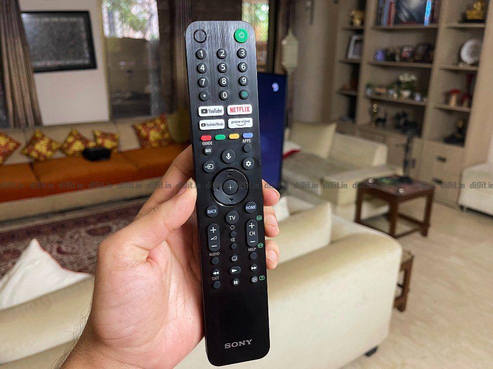 Sony X80J remote control.