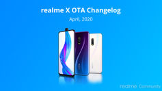 Realme X receiving new OTA update with April Android security patch