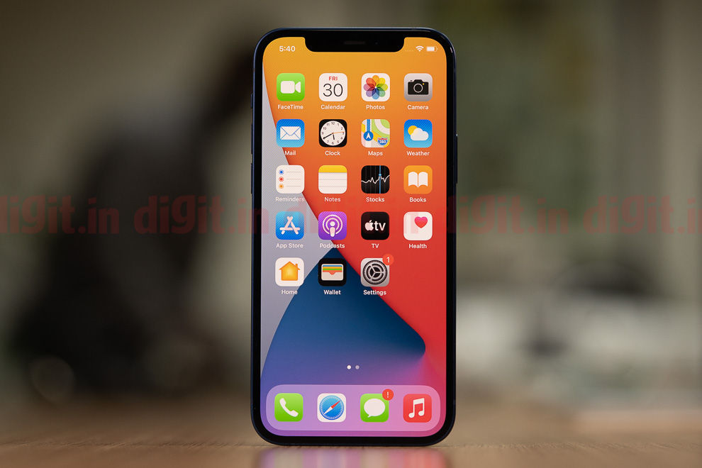 The Apple iPhone 12 features Apple's latest 5nm-based A14 Bionic