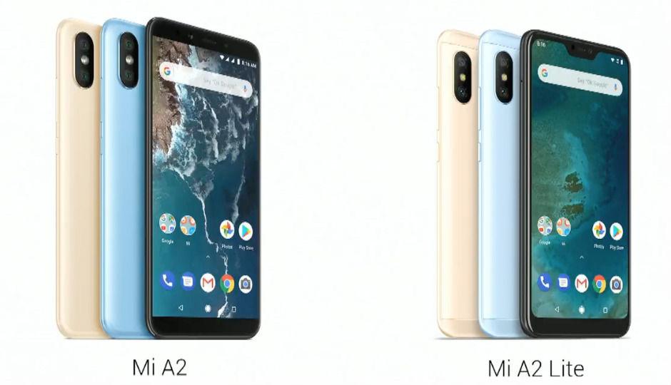 Výsledok vyhľadávania obrázkov pre dopyt Xiaomi Mi A2 and A2 lite