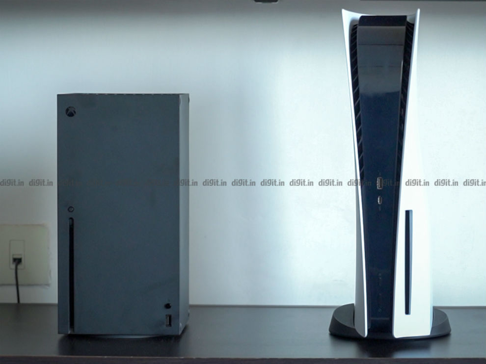The PS5 is taller and deeper than the Xbox Series X.