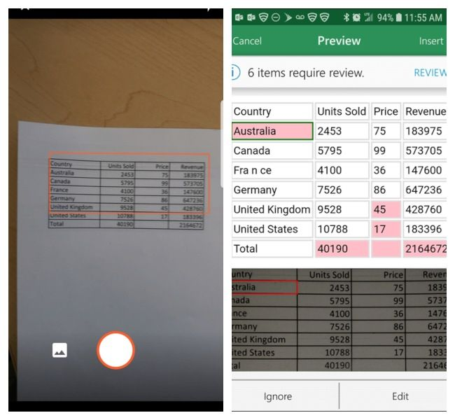 Microsoft introduces Google Lens-like Character Recognition in Excel