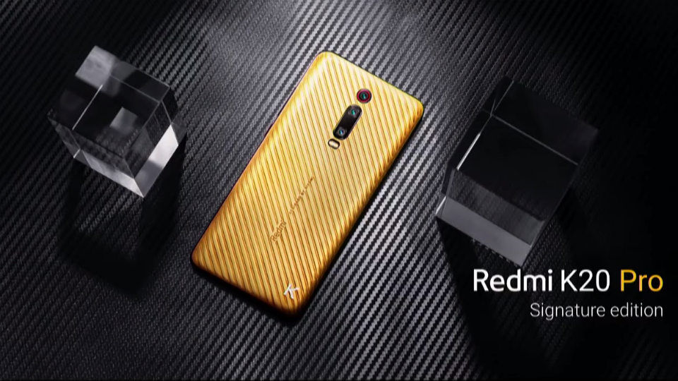 Redmi K20 Pro Signature edition with real gold costs Rs 4 8