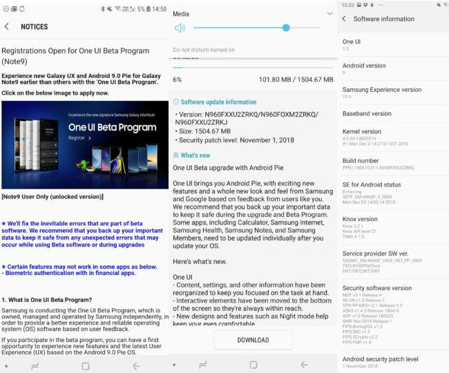 Samsung Galaxy Note 9 One UI beta releases in India and