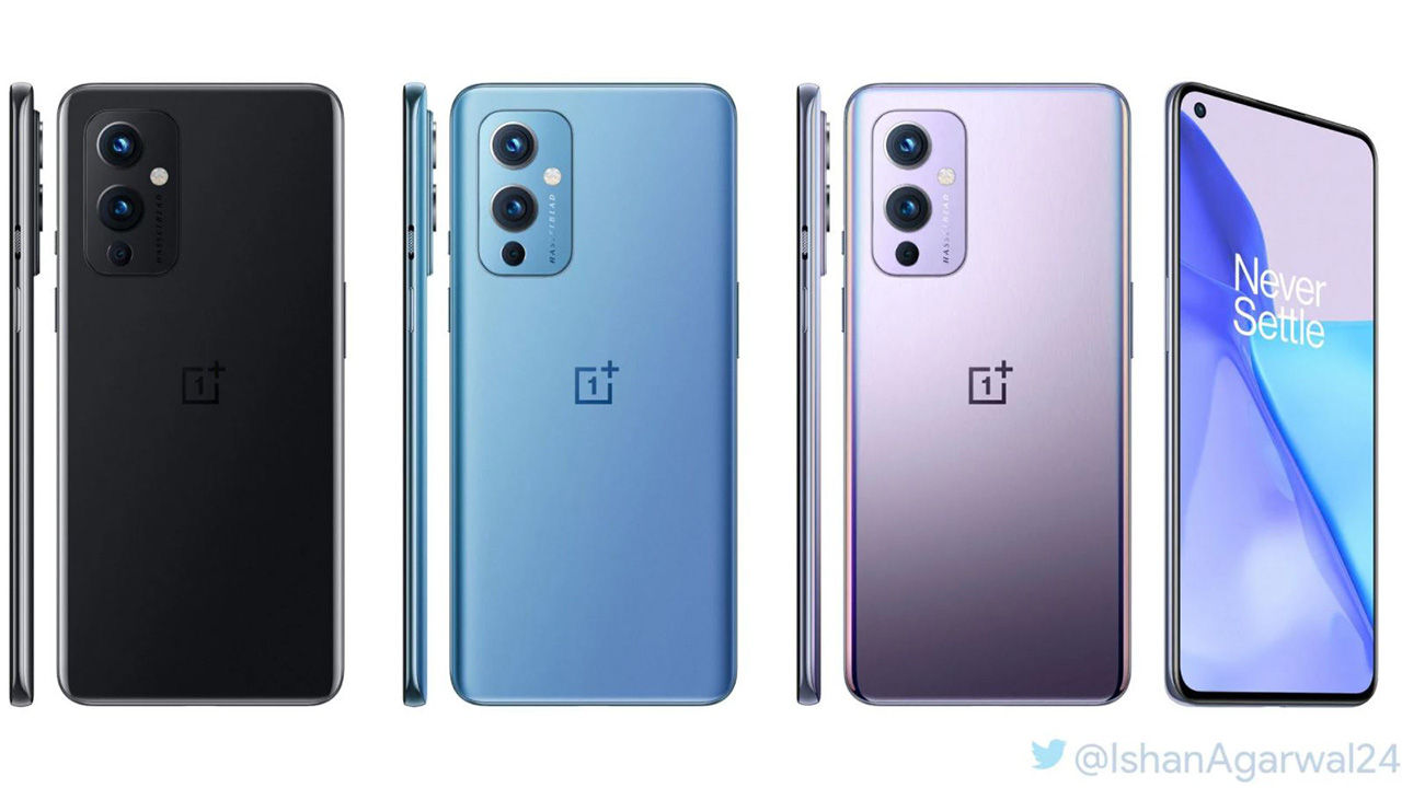 OnePlus 9, 9 Pro 5G design revealed as official renders leak again