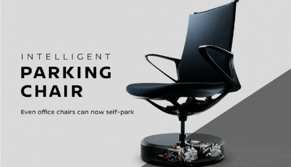 New Nissan has uber cool self parking chairs in its office