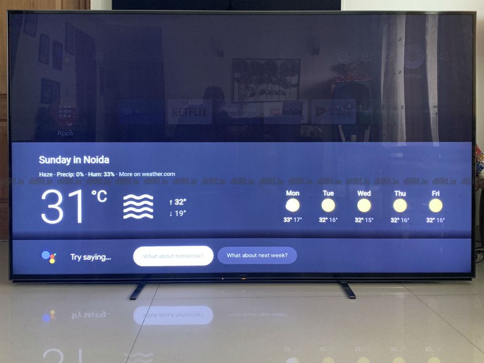 The Sony Z8H TV can be controlled by simply using your voice.