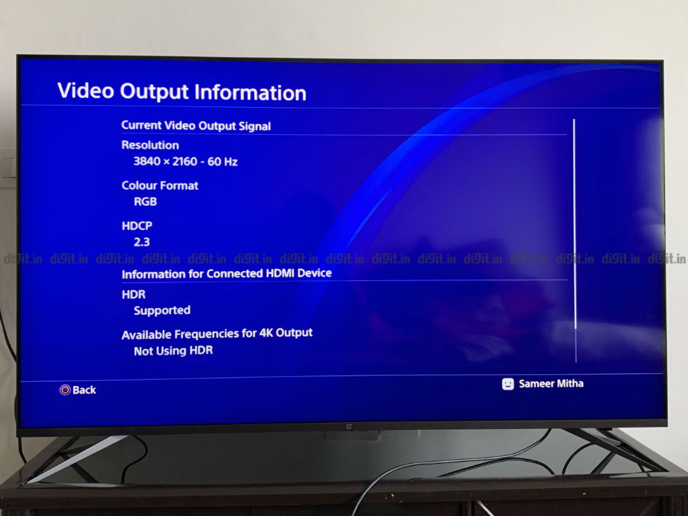4K HDR gaming using the PS4 Pro on the OnePlus U TV.