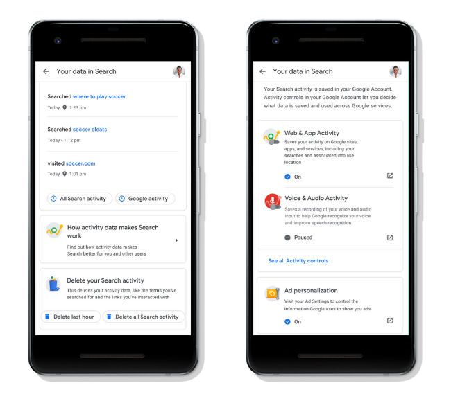 Google Search gets new options to help users easily manage