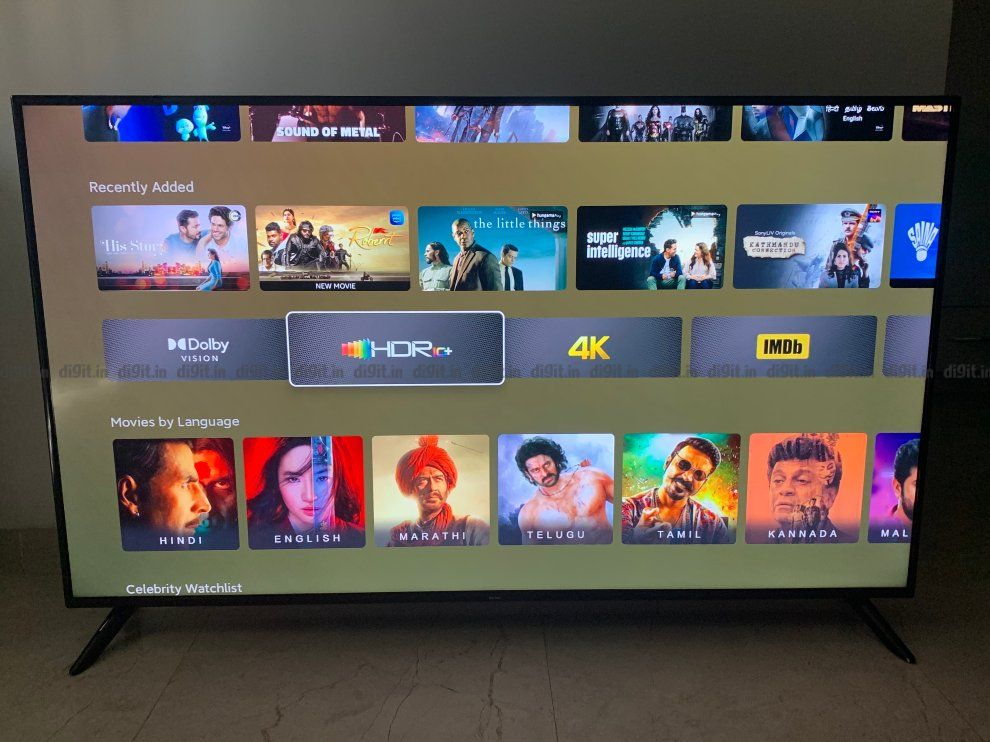 Redmi 65X Smart TV specifications and features
