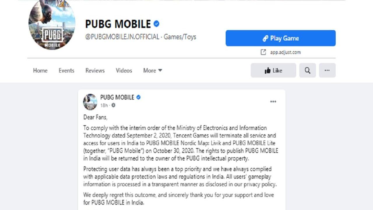 PUBG Mobile shut down