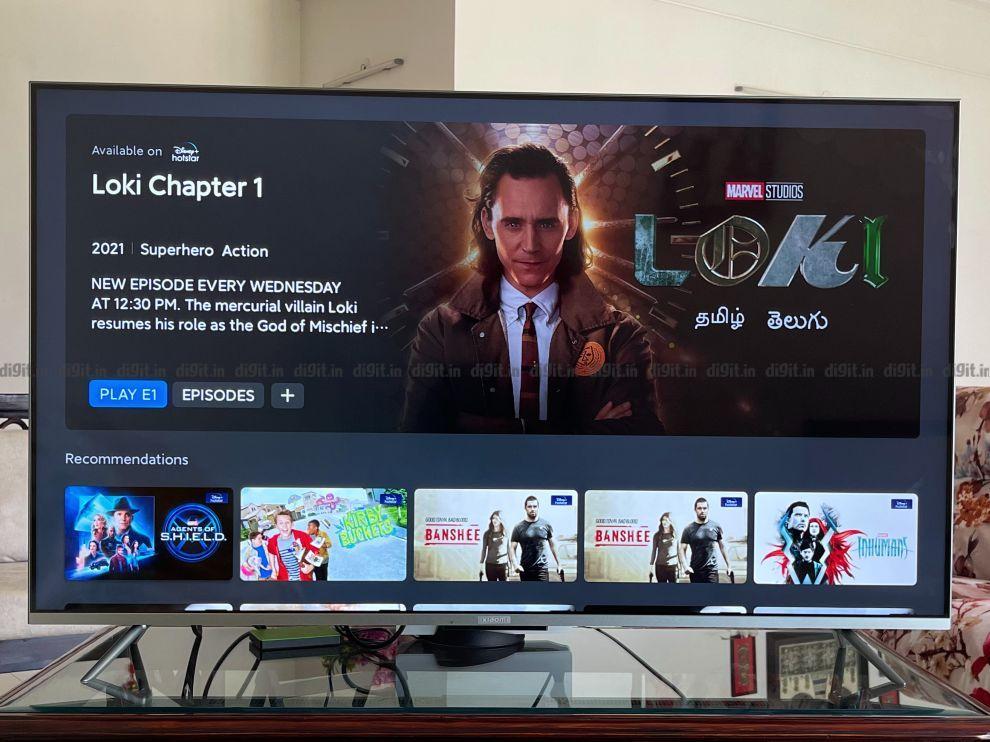No IMDB rating for Loki on the Mi TV 5X?