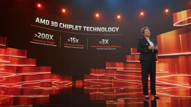 प्रतिस्पर्धी प्रौद्योगिकियों पर AMD 3D पैकेजिंग लाभ