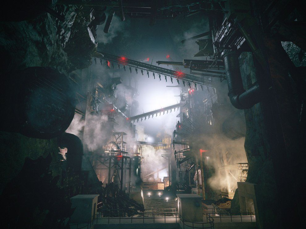 The factory is an intimidating area in the game.