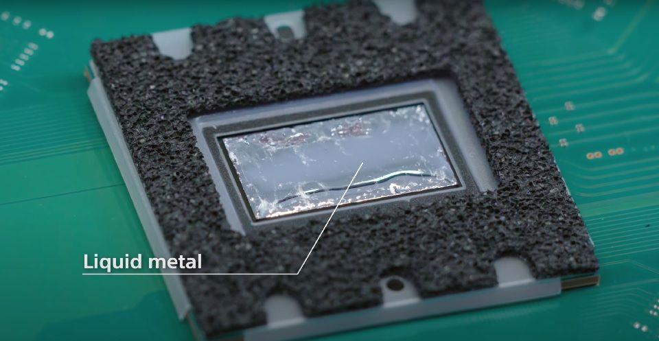 PS5 teardown Liquid Metal TIM cooling