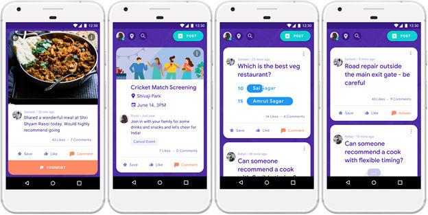 Google Neighbourly App screenshots