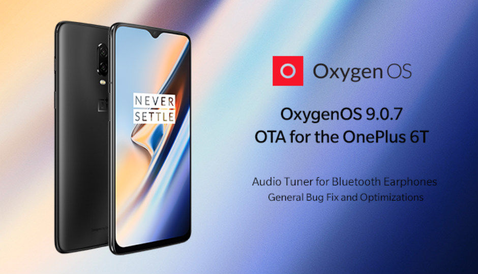 OnePlus 6T OxygenOS 907 update brings audio tuner for Bluetooth earphones, fixes lock-screen display issues
