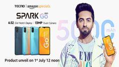 5000mAh बैटरी और बड़ी स्क्रीन के साथ 1 जुलाई को लॉन्च होगा Tecno Spark Go 2021