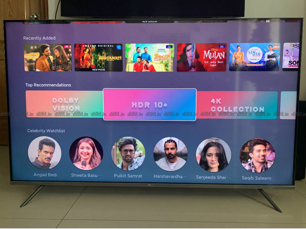 The Mi QLED TV 4K supports HDR, HDR 10+ and Dolby Vision.