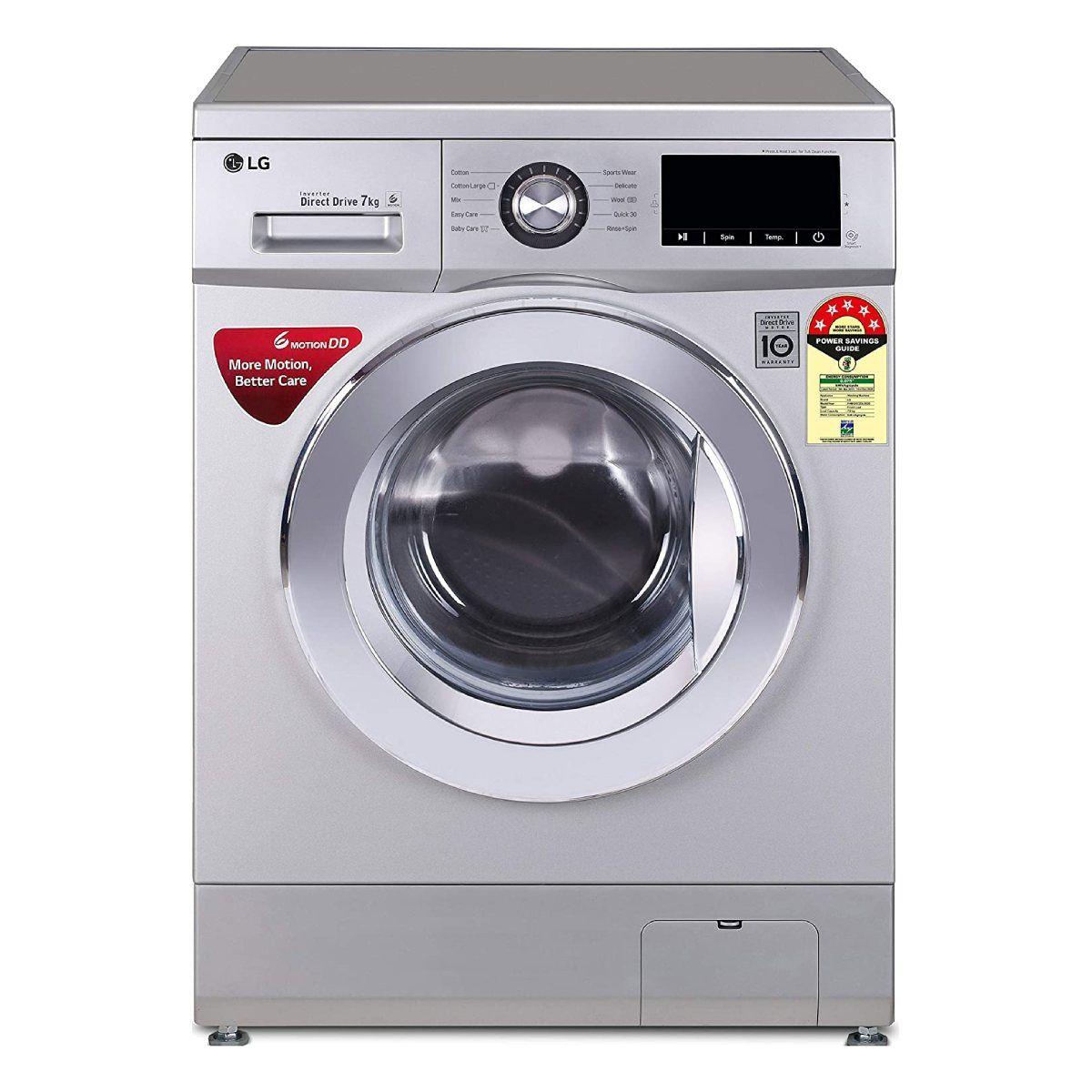 एलजी 7.0 Kg Fully-Automatic Front Loading Washing Machine (FHM1207ZDL)