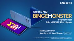 Samsung Galaxy M32 with 90Hz display, 64MP quad cameras launched in India: Price, specifications and features