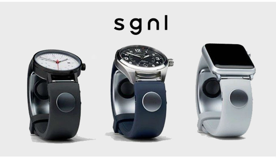 The SGNL wristband lets you take calls with just your fingertip