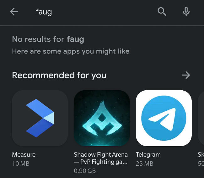 fake FAU-G apps have been removed from the Play Store