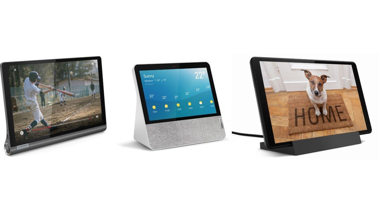 Lenovo Smart Display 7, Yoga Smart Tab and Lenovo Smart Tab