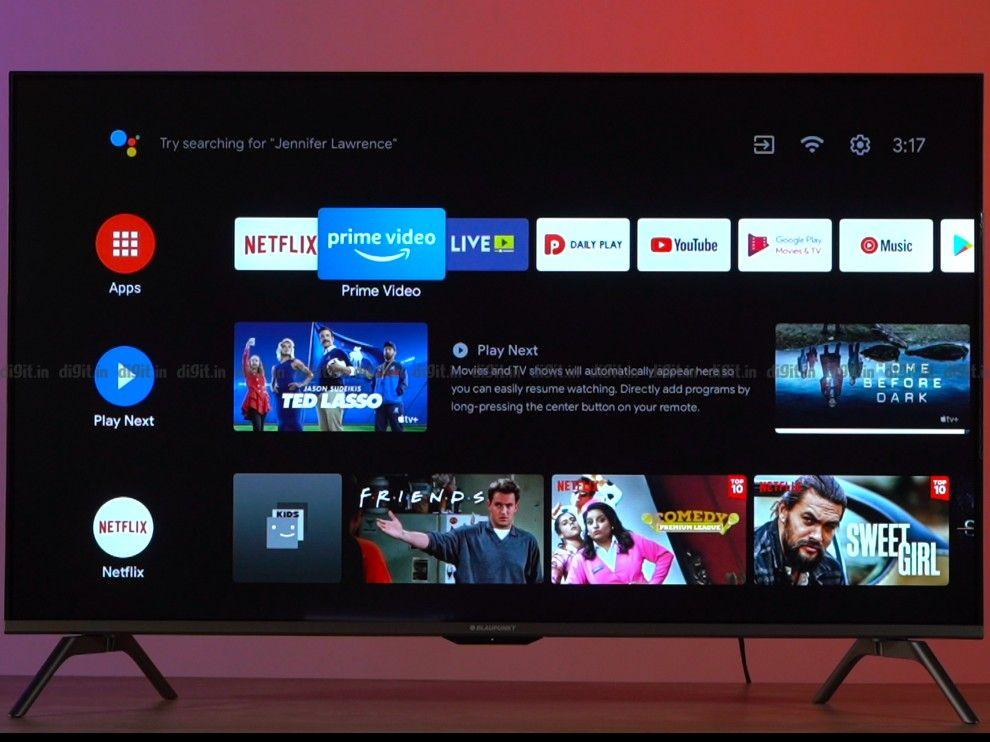 The Blaupunkt TV runs on Android TV UI.