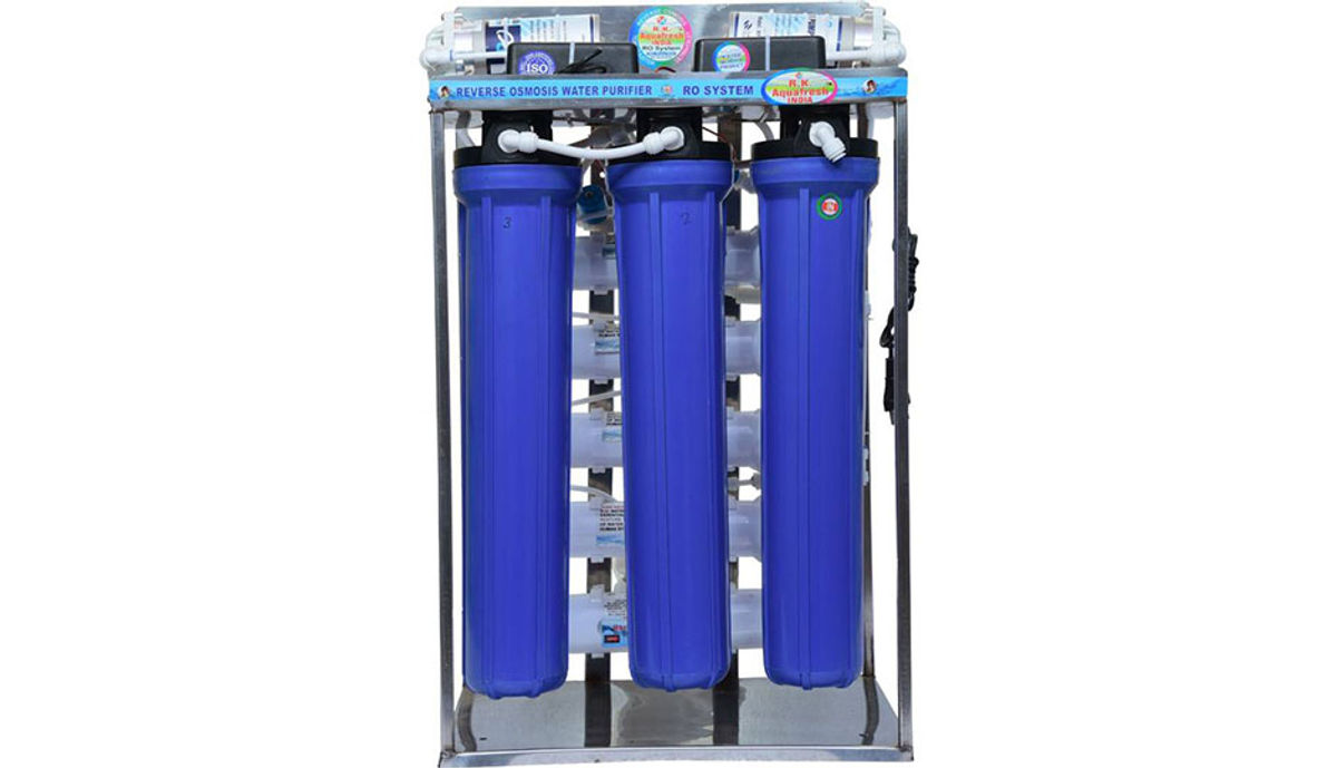 Rk Aquafresh India 50LPH STAINESS STELL DOMESTIC PLANT FOR OFFICE AND RESTAURANT RO Water Purifier (STAINLESS STEEL)