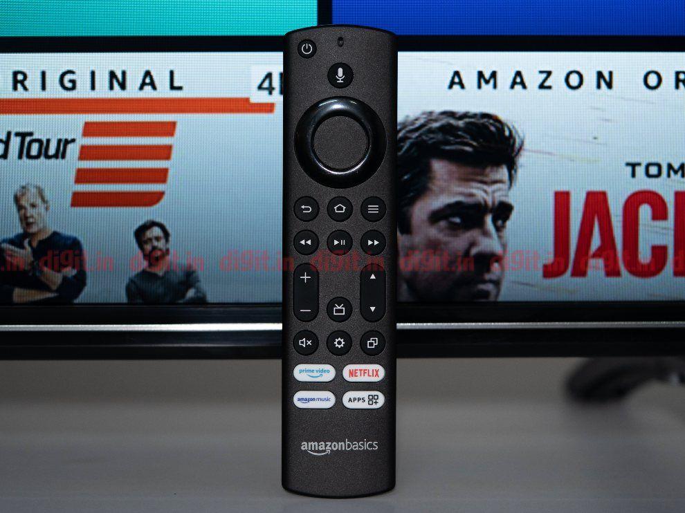 The AmazonBasics TV remote control comes with dedicated OTT hotkeys.