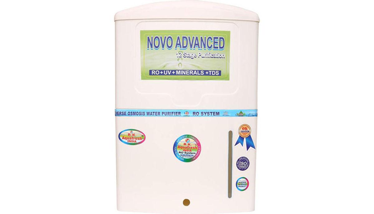 Rk Aquafresh India Novo Advanced 12Stage 10 L RO + UV +UF Water Purifier (White)