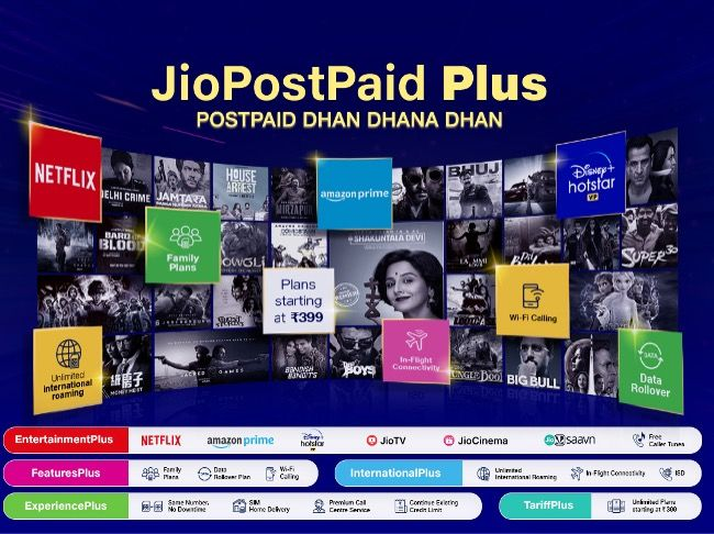 Reliance Jio postpaid plus launched in India