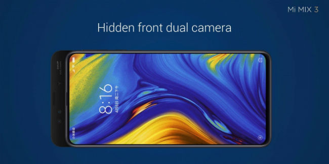 Xiaomi Mi Mix 3 with magnetic display slider, 10GB RAM and