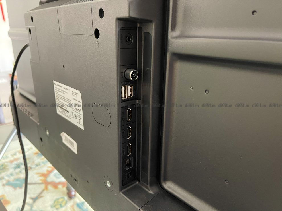 The Blaupunkt TV comes with 3 HDMI ports and 2 USB ports.