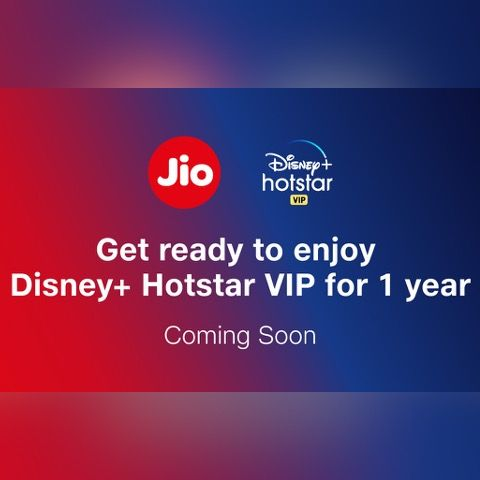 jio and disney+ hotstar subscription for one year