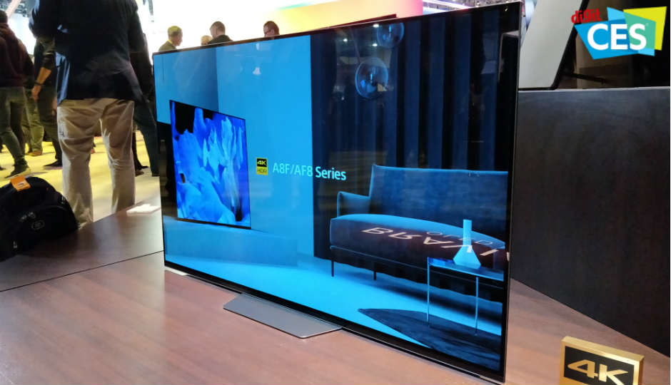 ces 2018 sony announce a8f 4k oled and x900f lcd tvs with. Black Bedroom Furniture Sets. Home Design Ideas