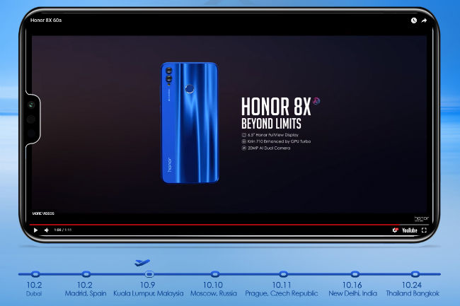 Honor 8X with Kirin 710 SoC, 6 5-inch full-HD+ display to launch in