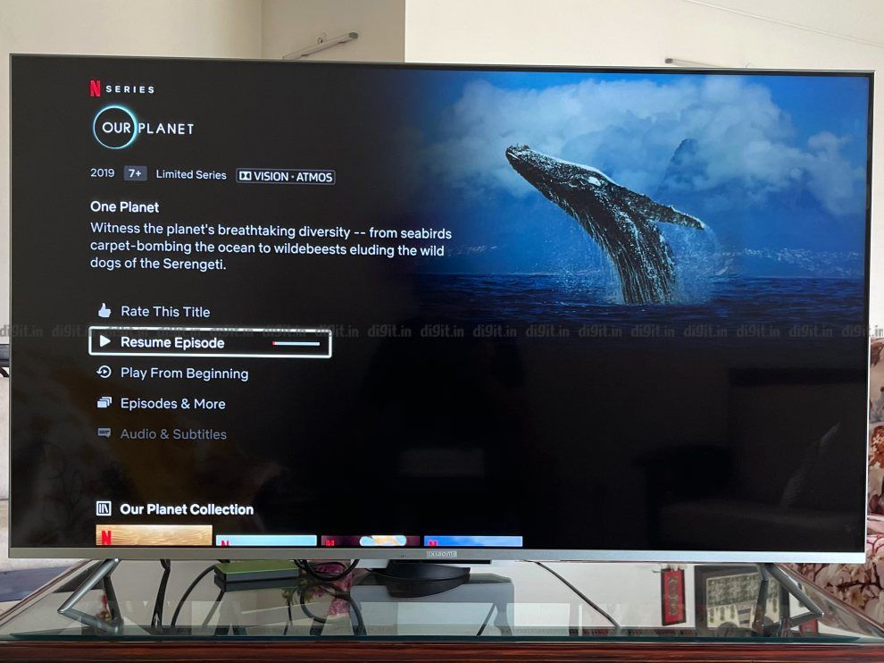 The Mi TV 5X supports Dolby Vision and Dolby Atmos.