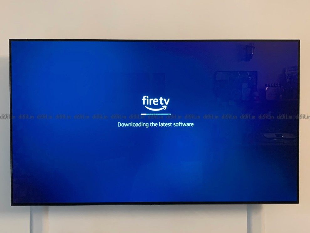 The Fire TV Cube will update once connected to the internet.
